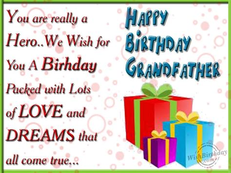 Birthday Greeting Cards For Grandfather Wishing You A Very Happy Birthday Dear Grandfather