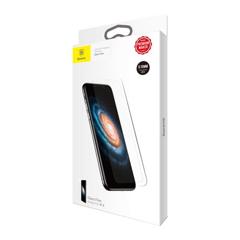 Baseus Tempered Glass For baseus glass ultra thin tempered glass screen protector for iphone x 0 15 mm white hurtel
