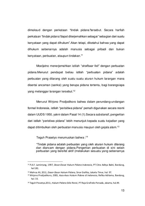 Tindak Tindak Pidana Tertentu Di Indonesia Wirjono Prodjodikoro skripsi lengkap hukum tindak pidana penipuan