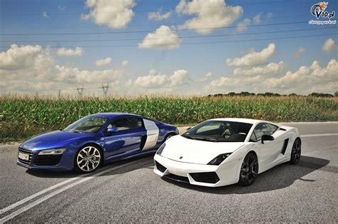 R8 Lamborghini audi r8 v10 vs lamborghini gallardo lp650 4 01