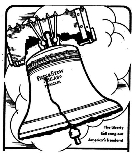 liberty bell coloring pages