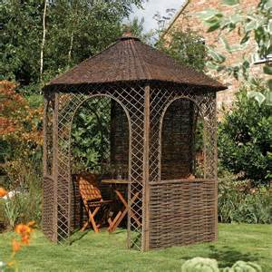 Rustic Gazebo by Willow Gazebo 6 Sided With Windows Stand Alone Rustic Design
