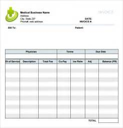 medical invoice template 8 free samples examples format