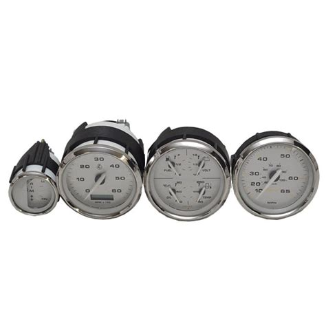 boat gauges set uk faria kronos silver series illuminated boat gauge set set