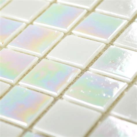 wholesale bathroom tile crystal glass tile mirror white lights square iridescent