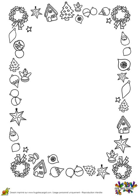 Coloriage lettre decorations et sapins sur Hugolescargot