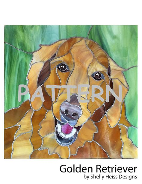golden retriever stained glass pattern stained glass pattern portrait golden retriever for stained glass or mosaic