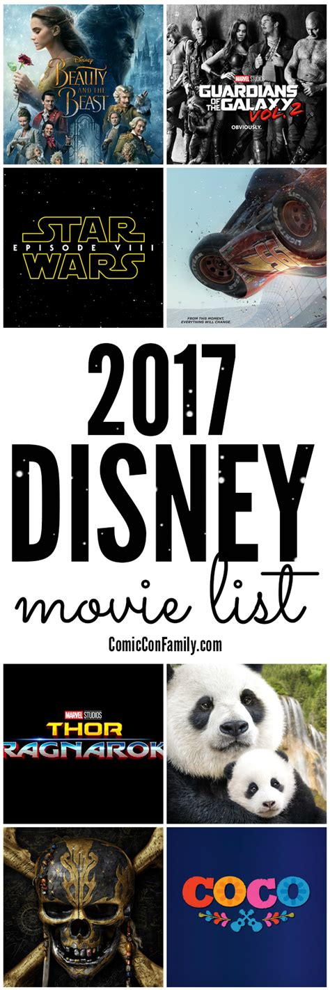Disney Movie 2017 List | 2017 list of disney movies trailers release dates