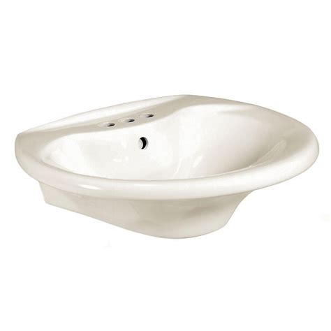 glacier bay pedestal sink glacier bay shelburne 20 in pedestal sink basin in bone f