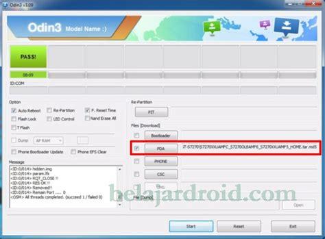 tutorial flash dengan odin tutorial memperbaiki samsung j1 mini sm j105f yang error