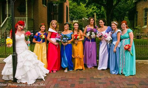 just like a fairytale disney princess themed wedding geekologie