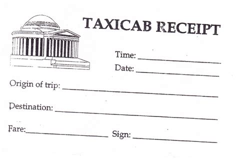 washington dc taxi receipt template taxi receipt ernest salazar flickr