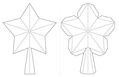 Crafting Creatures 3d Paper Star For Xmas Tree Topper Tree Cut Out Coloring Pages