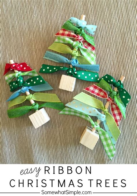 ribbon christmas trees craft somewhat simple