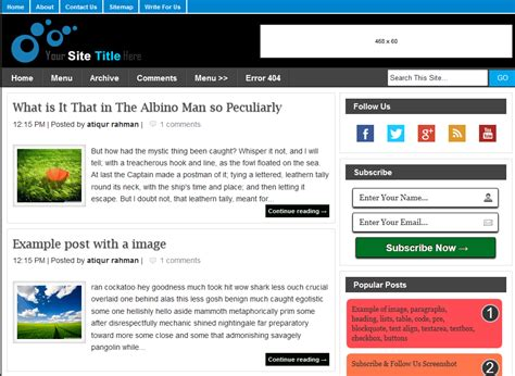 blogspot templates responsive blog themes free blogger