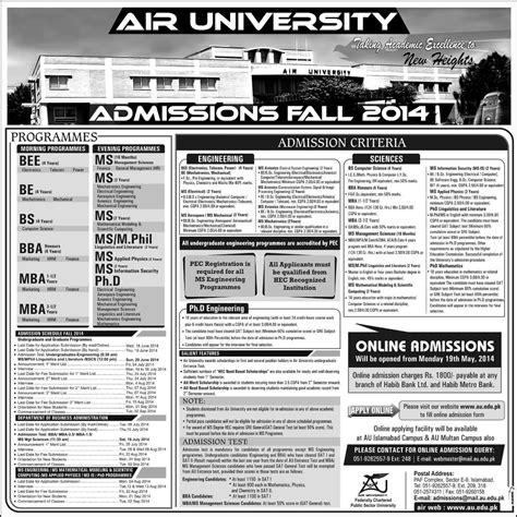 Mba Admission In Islamabad by Admissions Open In Air At Islamabad Lahorimela