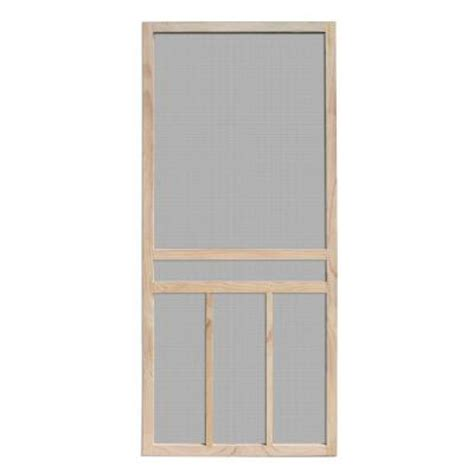 Wooden Screen Doors At Home Depot by Unique Home Designs Piedmont 36 In X 80 In Unfinished