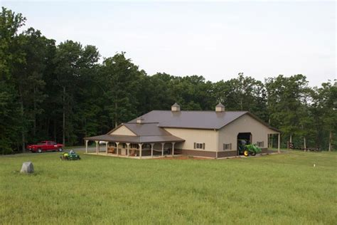 Home And House Shop One Of A Metal Building Farm W Porch Kitch Area