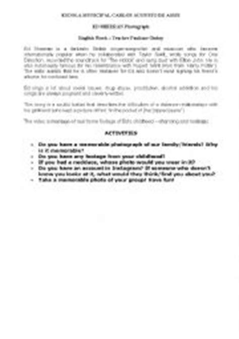 ed sheeran biography in english english worksheets ed sheeran biography