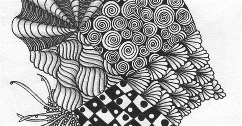 zentangle pattern sanibelle cut n it up and sewing it back together challenge for