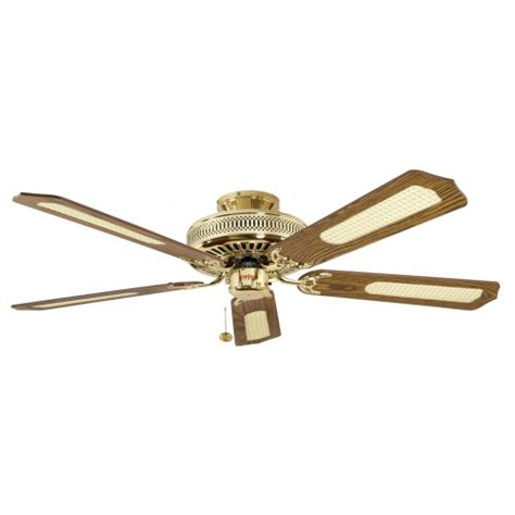 classic ceiling fans fantasia classic 52in ceiling fan polished brass with oak