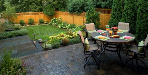 Small Backyard Patio Paver Ideas Landscaping Gardening Small Backyard Design Ideas