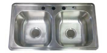 33 quot x19 quot stainless steel kitchen sink 6 quot d for mobile home