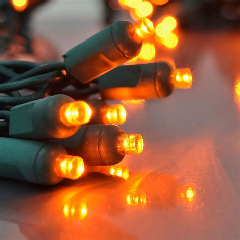 orange led party string lights 50 lights