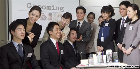 makeup lessons for men korean air s latest training day