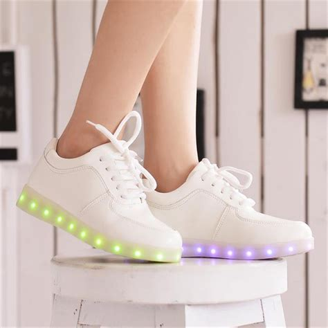 glowing shoes 2015 colorful glowing shoes with lights up led