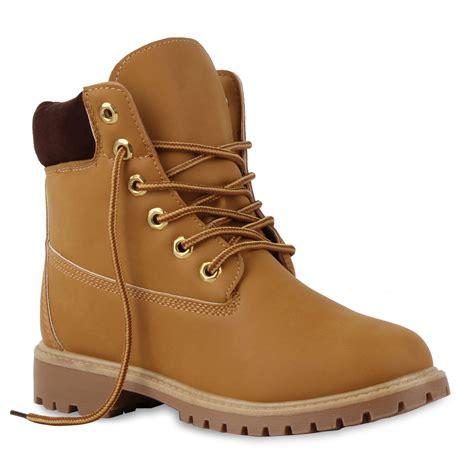 Outdoor Schuhe Damen by Damen Worker Boots Profil Sohle Stiefeletten Outdoor