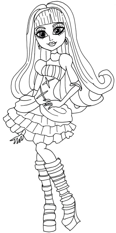 Free Printable Monster High Coloring Pages December 2013 Coloring Sheets For High Printable