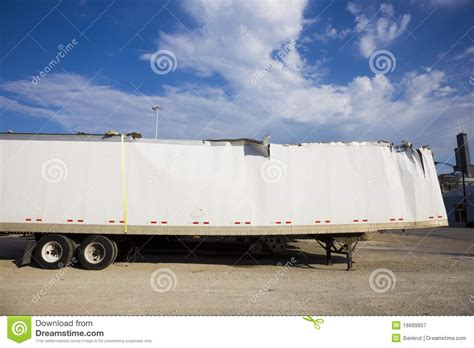 trailer after white trailer after against blue sky royalty