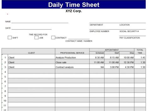 daily task sheet template excel best photos of daily task log template daily log sheet