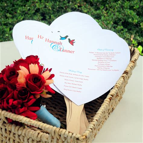 diy wedding program fans diy heart program fan paper ki wedding hand fans