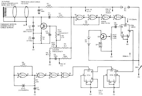 metal detector circuit diagram metal detector schematic circuit diagram 82 with metal