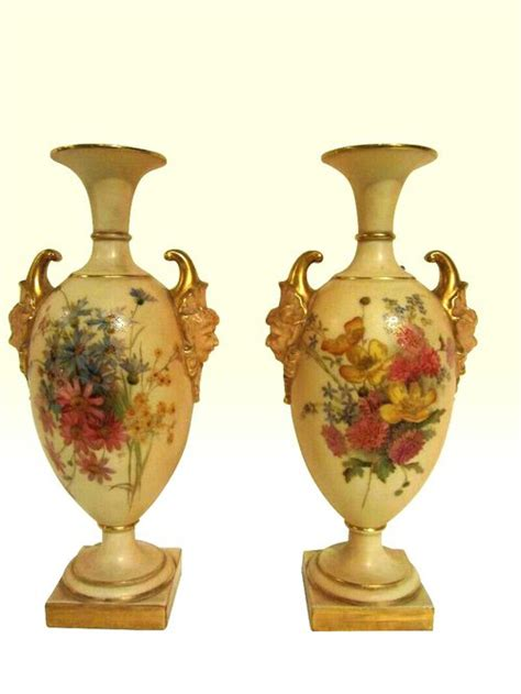 Royal Worcester Vases by Antiques Atlas Lovely Pair Of Royal Worcester Vases 1903