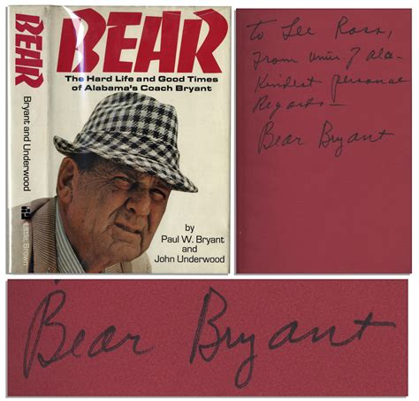 coach the of paul bryant books lot detail coach paul w bryant signed copy of