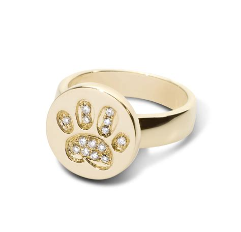 paw ring paw print ring 14kt yg welch designs