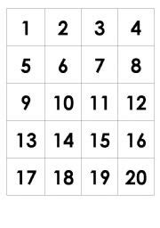 small printable number cards 1 10 english worksheets numbers 1 20