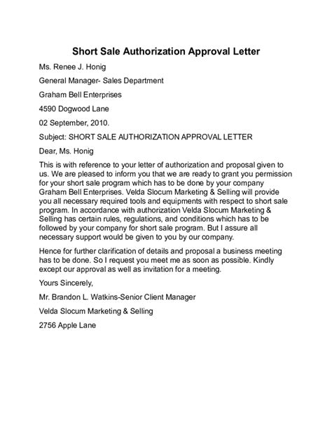 authorization letter to sell property sale third authorization letter wendy shaw