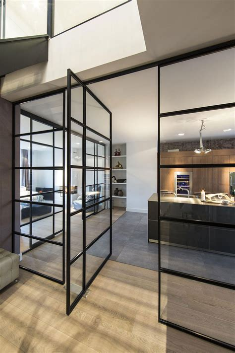 kitchen glass wall glass wall door kitchen apartment in amsterdam
