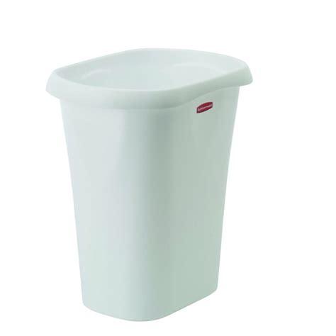 home depot paint waste rubbermaid 12 qt white waste basket fg5l5100wht the