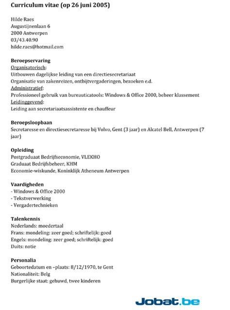 lijst vaardigheden cv voorbeeld cv 2018