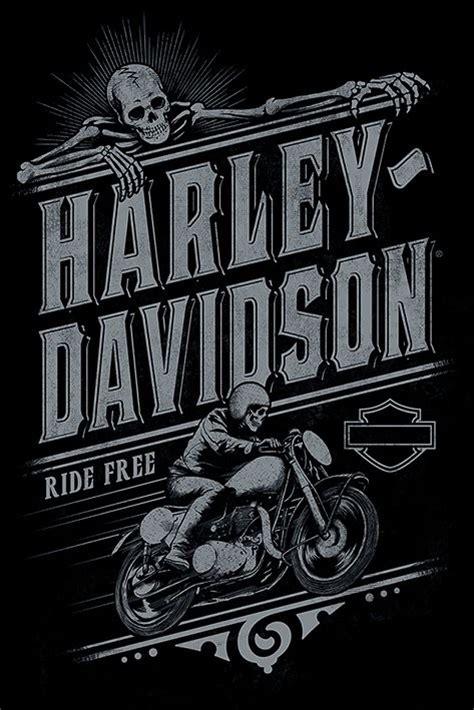 Poster Harley Davidson 1 harley davidson ride free poster plakat 3 1 gratis
