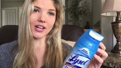 lysol disinfectant spray max cover review youtube