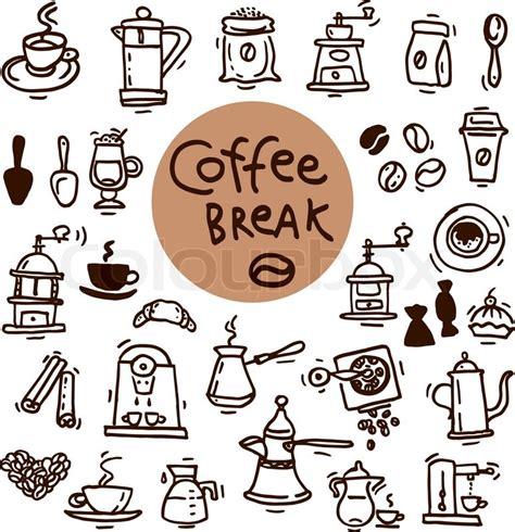doodle draw icon pack apk sketch doodle coffee icon set vector