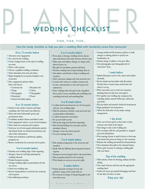 printable wedding planner the knot pose photography printable wedding checklist the knot s