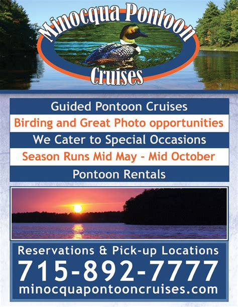 pontoon boat rental minocqua wi minocqua pontoon cruises poster