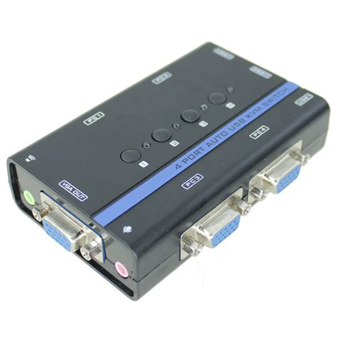 Vga Switch Gain Tech 4 Port Gt 15 4 Diskon 4 port kvm vga usb auto switch pi manufacturing